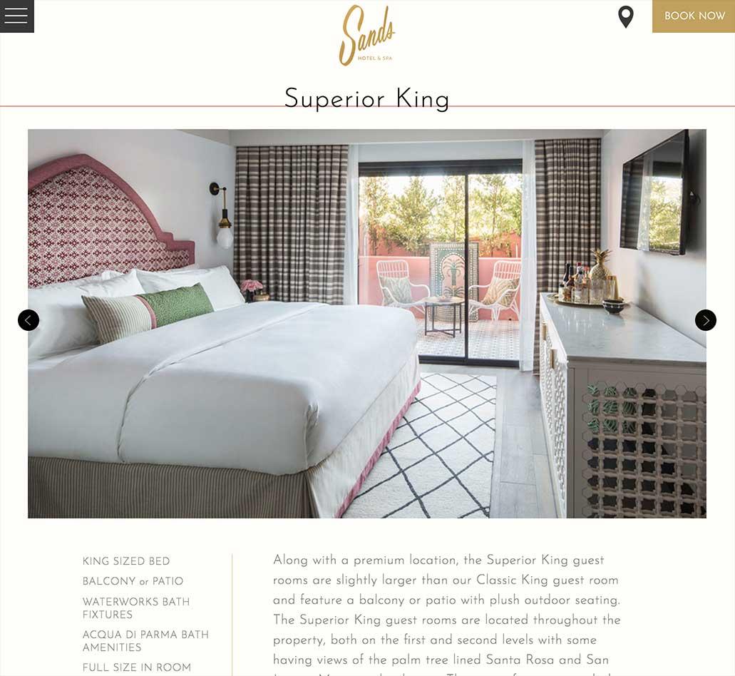 Sands: Rooms