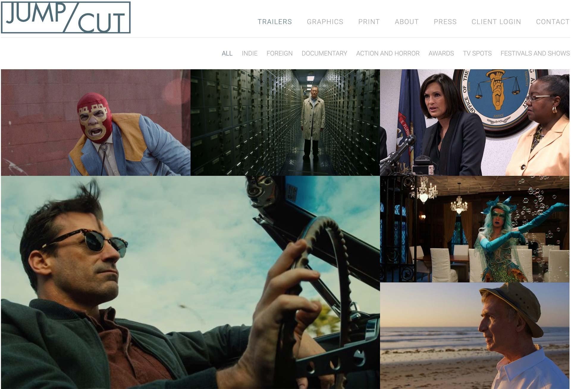 JUMP/CUT homepage
