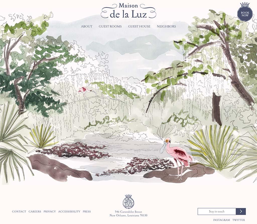 Maison de la Luz homepage