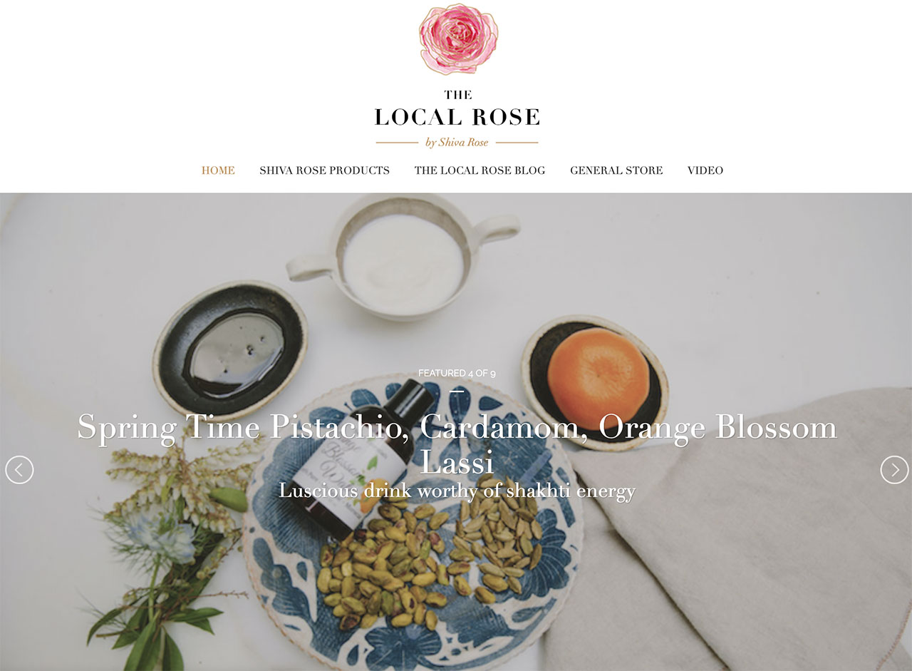 the Local Rose homepage