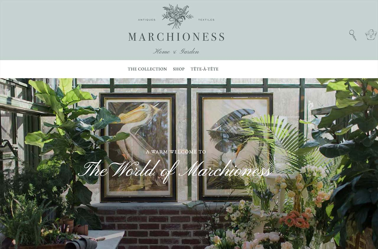 marchioness.com homepage