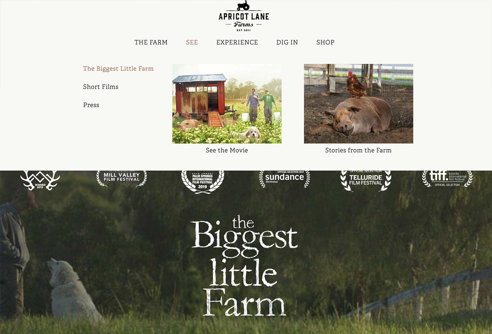 biggest little farm page